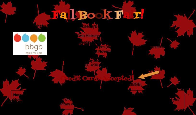 Fall Book Fair w bbgb (go home flyer)